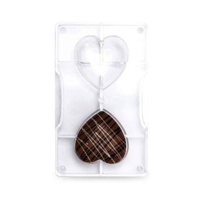 Stampo per cioccolato cuore medio 2 cavità