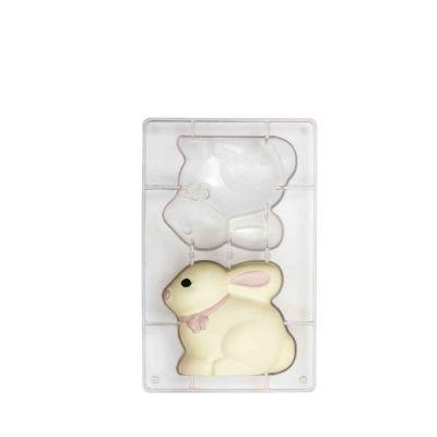 Coniglietto di cioccolato realizzato con stampo in policarbonato