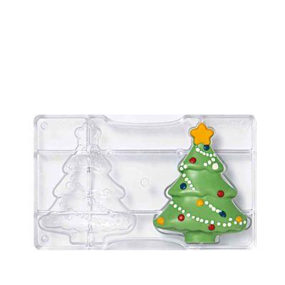 Stampo per Albero di Natale di cioccolato piccolo in policarbonato 2 cavità