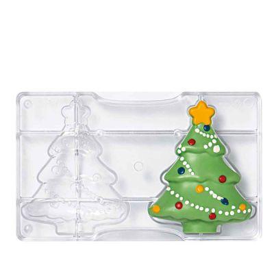 Albero Stampo per Albero di Natale di cioccolato grande in policarbonato 2 cavità