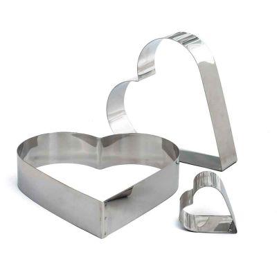 Coppapasta a cuore in acciaio inox h 4,5 cm