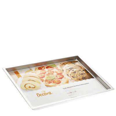 Teglia professionale per forno in alluminio rettangolare 30x40 h 2,5 cm Decora