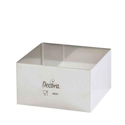 Coppapasta quadrato in acciaio inox 10 x 10 x 4,5h cm