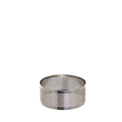 Sagoma anello tondo cerchio inox microforato per torte 8 cm Decora
