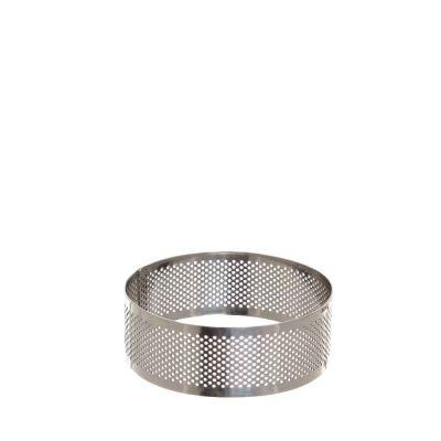 Sagoma anello tondo cerchio inox microforato per torte 10 cm Decora