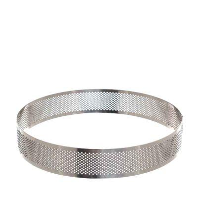 Sagoma anello tondo cerchio inox microforato per torte 20 cm Decora