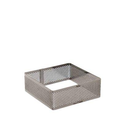 Sagoma quadrato inox microforato 10x10cm
