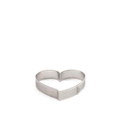 Sagoma cuore inox microforato 10x9cm Decora
