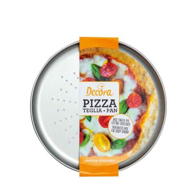 Teglia rotonda forata per pizza e focacce Ø28 cm