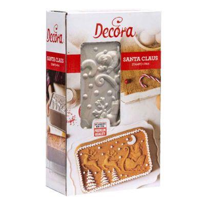 Stampo per plumcake con Babbo Natale e paesaggio natalizio