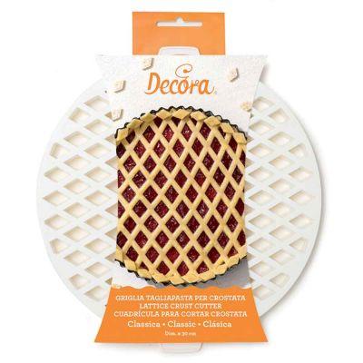 Griglia Tagliapasta a losanghe per crostata in plastica tonda Ø30cm