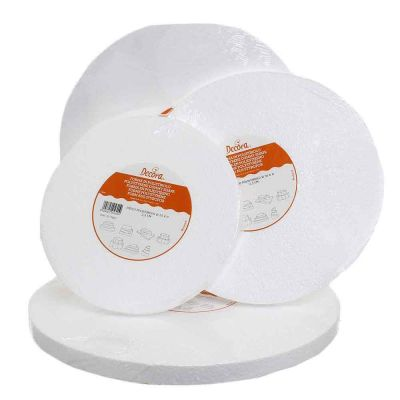 Base rotonda in polistirolo bianco alta 2,5 cm