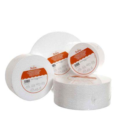 Base rotonda in polistirolo bianco Decora altezza 10 cm varie misure di diametro