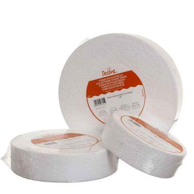 Base rotonda in polistirolo bianco Decora alta 5 cm varie misure diametro