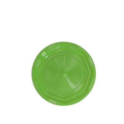 25 Piattini di plastica riutilizzabili e lavabili verde acido DOpla Ø17 cm