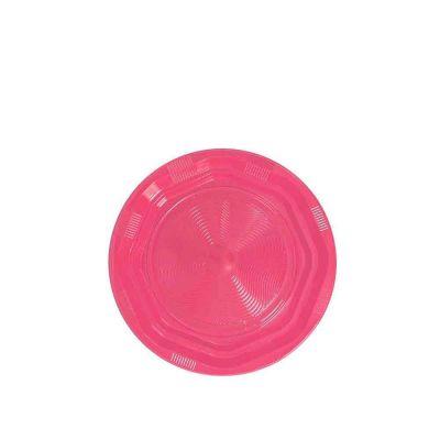 25 Piattini di plastica riutilizzabili e lavabili fucsia DOpla Ø17 cm