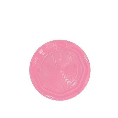 25 Piattini di plastica riutilizzabili e lavabili rosa DOpla Ø17 cm