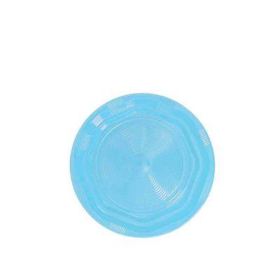 25 Piattini di plastica riutilizzabili e lavabili azzurro DOpla Ø17 cm