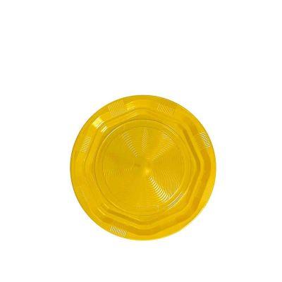 25 Piattini di plastica riutilizzabili e lavabili giallo DOpla Ø17 cm