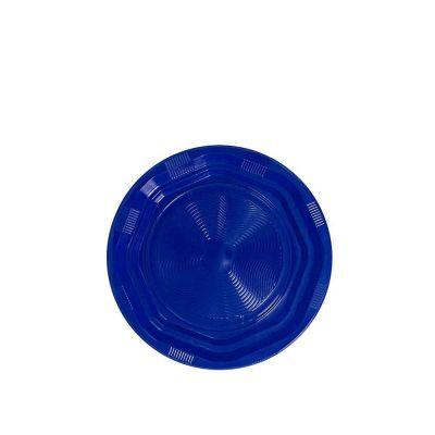 25 Piattini di plastica riutilizzabili e lavabili blu DOpla Ø17 cm