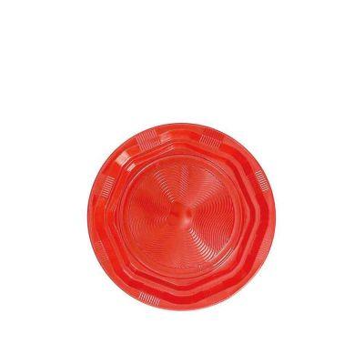 25 Piattini di plastica riutilizzabili e lavabili rosso DOpla Ø17 cm