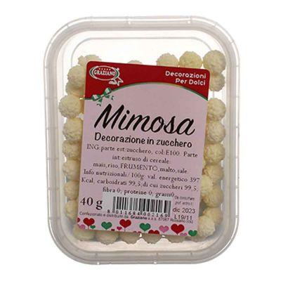 Palline di zucchero gialle Mimosa per decorazione 40 g Graziano