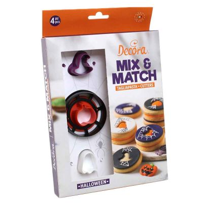Set 4 pz Cutters Tagliapasta in plastica occhio di bue Halloween