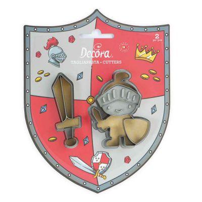 Set 2 Cutter Tagliapasta in plastica cavaliere e spada Decora