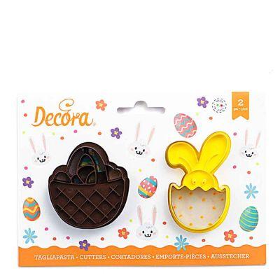 Set 2 Cutters Tagliapasta in plastica Cestino e Coniglio Bunny