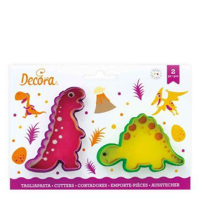 Set 2 Cutters Tagliapasta in plastica animali dinosauro Decora