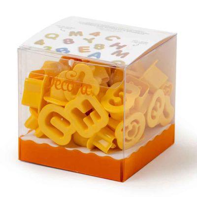 Set 36 Cutters Tagliapasta in plastica Lettere e Numeri Decora