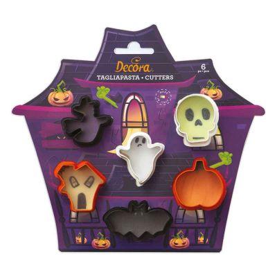 Set 6 Mini Cutters Tagliapasta in plastica Halloween Decora