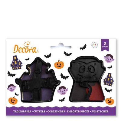 2 Tagliapasta Cutter Halloween Vampiro e Casa stregata Decora