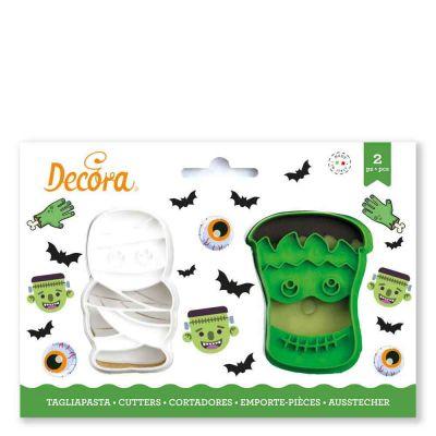 Set 2 Cutters Tagliapasta in plastica Halloween Mostri Decora