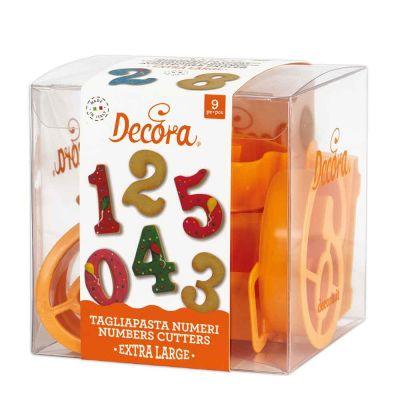 Set 9 Cutters Tagliapasta in plastica Numeri grandi Decora