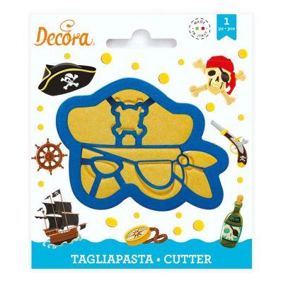 Cutter Tagliapasta in plastica Maschera Pirata Decora