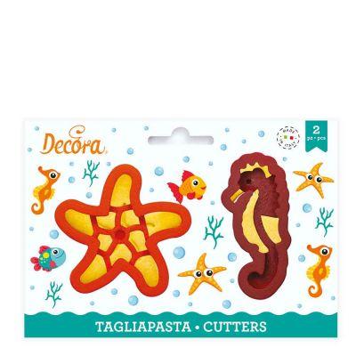 Set 2 Cutters Tagliapasta in plastica Stella e Cavalluccio marino