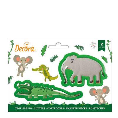 2 Tagliapasta Cutter Coccodrillo Elefante