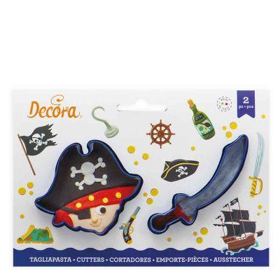 Set 2 Cutter Tagliapasta in plastica pirata e sciabola Decora