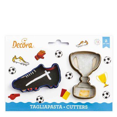 2 Tagliapasta Cutter Scarpetta calcio e Trofeo Decora