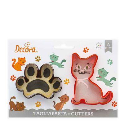 2 Tagliapasta Cutter Gatto Impronta