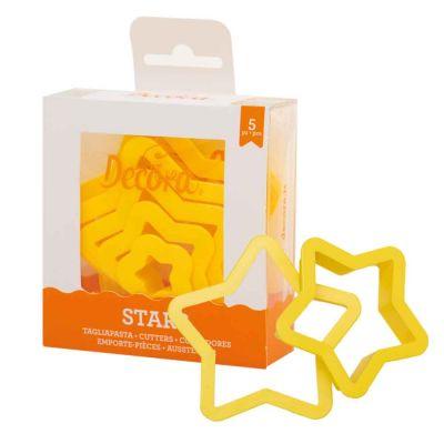 Set 5 Cutters Tagliapasta in plastica forma stella Decora