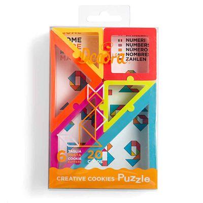 Kit 6 Tagliapasta geometrici puzzles Decora