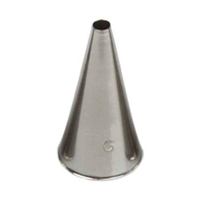 Beccuccio cornetto tondo 6 in acciaio inox Ø1,7 x 3,5 cm