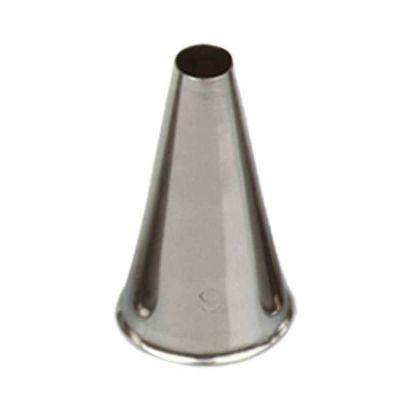 Beccuccio cornetto tondo 9 in acciaio inox Ø1,7 x 3,3 cm