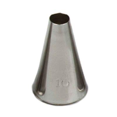 Beccuccio cornetto tondo 10 in acciaio inox Ø1,7 x 3 cm