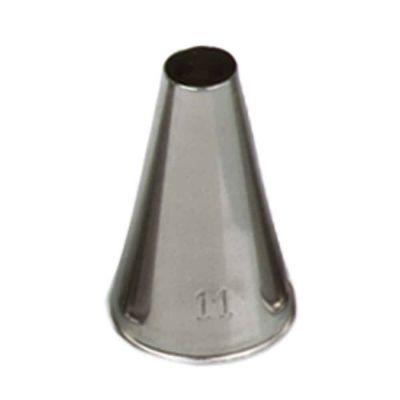 Beccuccio cornetto tondo 11 in acciaio inox Ø1,7 x 3 cm