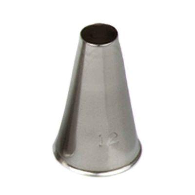 Beccuccio cornetto tondo 12 in acciaio inox Ø1,7 x 3 cm