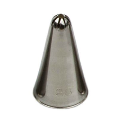 Beccuccio cornetto stella chiusa 28 Decora in acciaio inox Ø1,3 x 3,3 cm