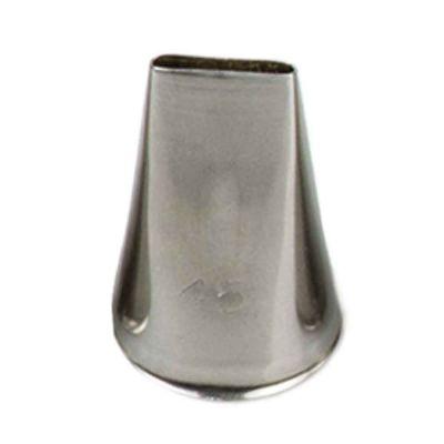 Beccuccio cornetto intreccio 45 in acciaio inox Ø1,7 x 3 cm Decora